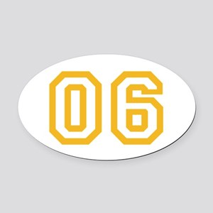 ONENINE06 Oval Car Magnet