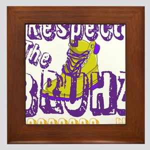 Respect the Bruhz Framed Tile