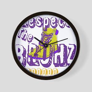 Respect the Bruhz Wall Clock