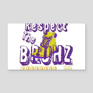 Respect the Bruhz Rectangle Car Magnet