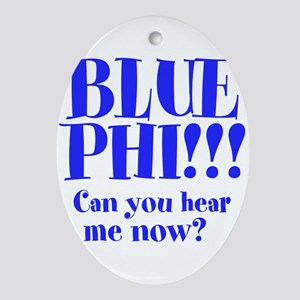 Blue Phi!! Ornament (Oval)