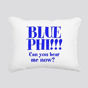Blue Phi!! Rectangular Canvas Pillow