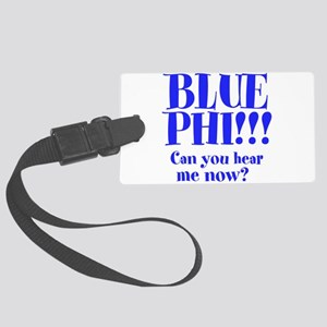 Blue Phi!! Large Luggage Tag