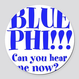 Blue Phi!! Round Car Magnet