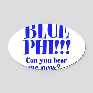 Blue Phi!! Oval Car Magnet
