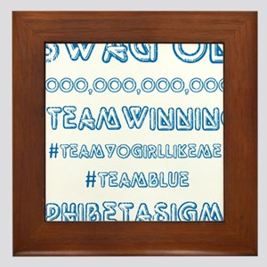 Phi Beta Sigma swag on Framed Tile