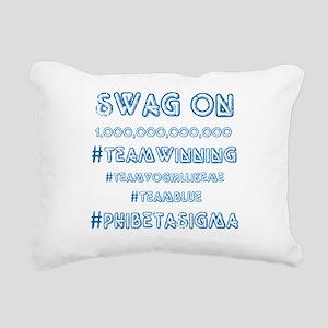 Phi Beta Sigma swag on Rectangular Canvas Pillow