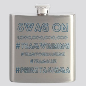 Phi Beta Sigma swag on Flask