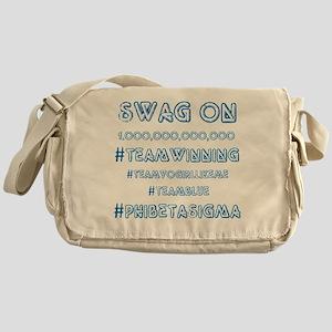 Phi Beta Sigma swag on Messenger Bag