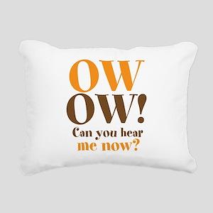 OW OW! Rectangular Canvas Pillow
