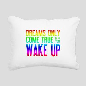 Dreams Come True (rainbow) Rectangular Canvas Pill