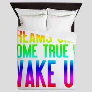 Dreams Come True (rainbow) Queen Duvet