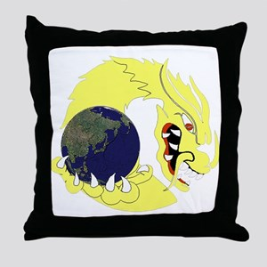Dragon & the World Throw Pillow