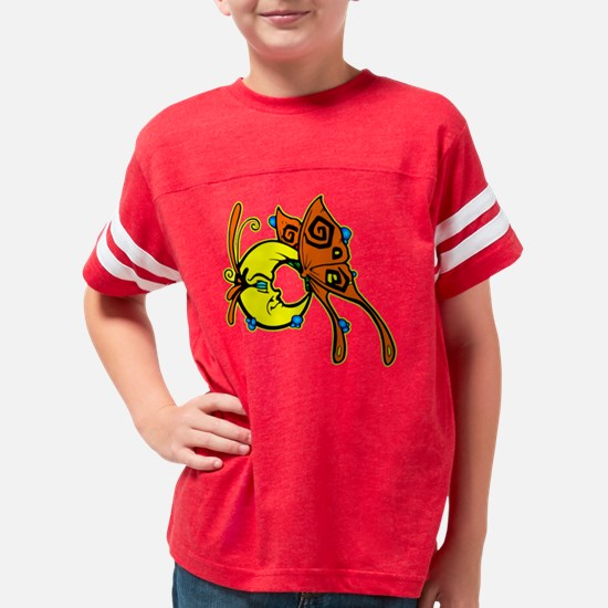 blk_Butterfly_Moon_Bubbles Youth Football Shirt