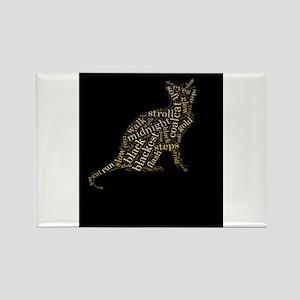black magic cat Rectangle Magnet