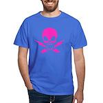 Pink Lightning Bolt Jolly Roger Dark T-Shirt