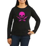 Pink Lightning Pirate Women's Long Sleeve T, Dark