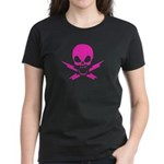 Pink Lightning Jolly Roger Women's T-Shirt, Dark