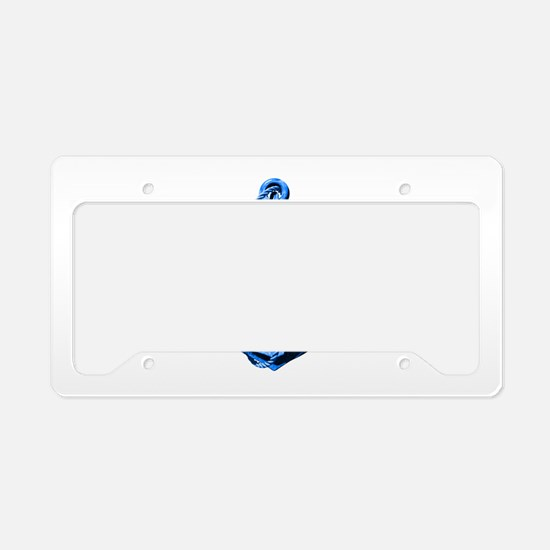 Blue Ship Anchor And Helm License Plate Holder