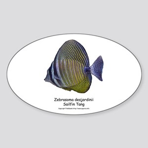 Sailfin Tang Oval Sticker