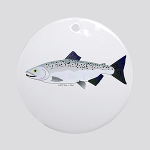Chinook King Salmon f Ornament (Round)