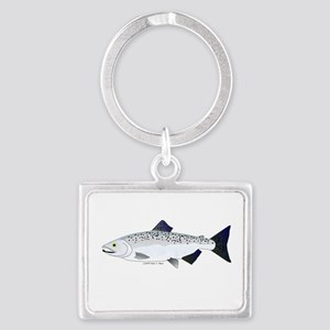 Chinook King Salmon f Keychains