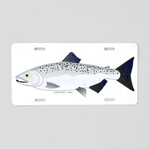 Chinook King Salmon f Aluminum License Plate