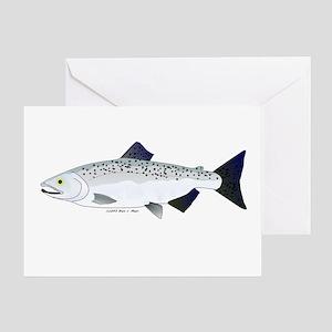 Chinook King Salmon f Greeting Card