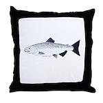 Chinook King Salmon f Throw Pillow