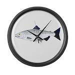 Chinook King Salmon f Large Wall Clock