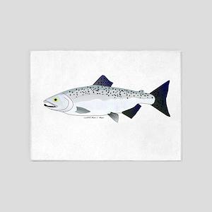 Chinook King Salmon f 5'x7'Area Rug