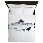 Chinook King Salmon f Queen Duvet