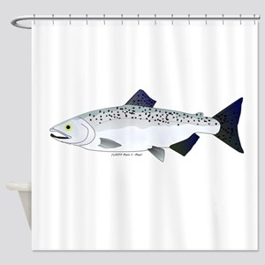 Chinook King Salmon f Shower Curtain