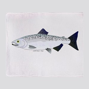Chinook King Salmon f Throw Blanket