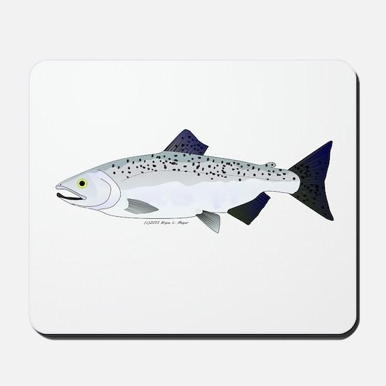 Chinook King Salmon f Mousepad