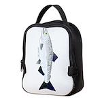 Chinook King Salmon f Neoprene Lunch Bag