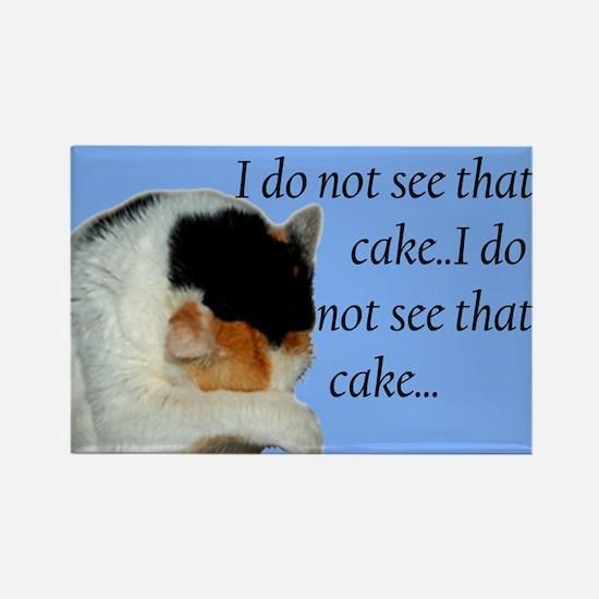 No Cake Rectangle Magnet