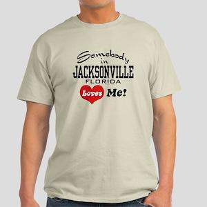 Somebody In Jacksonville Florida Loves Me Light T-