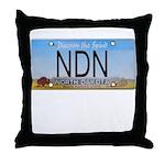 North Dakota NDN Pride Throw Pillow