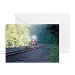 Conrail Office Car Train Greeting Cards (Package o