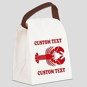 CUSTOM TEXT Lobster Canvas Lunch Bag