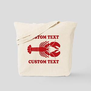 CUSTOM TEXT Lobster Tote Bag