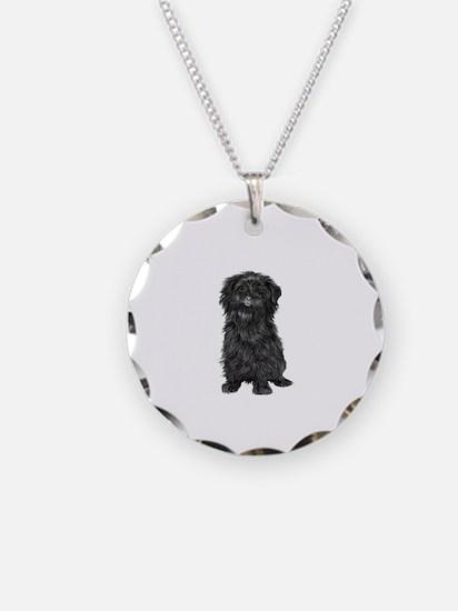 Affenpinscher (blk) Necklace
