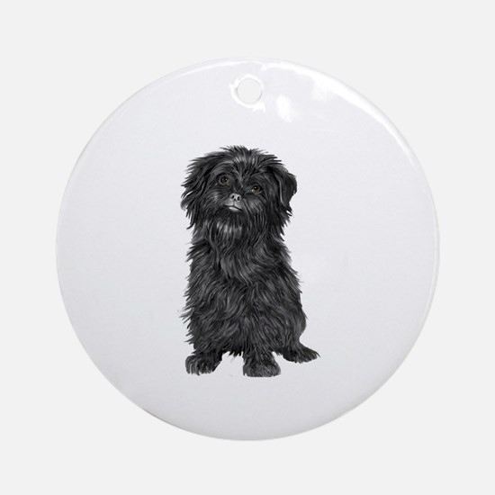 Affenpinscher (blk) Ornament (Round)