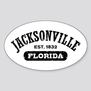 Jacksonville Florida Est. 1832 Sticker (Oval)