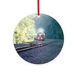 Conrail Office Car Train Ornament (Round)