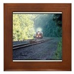 Conrail Office Car Train Framed Tile