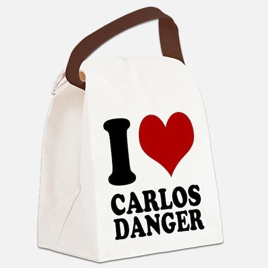 I heart Carlos Danger Canvas Lunch Bag