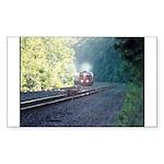 Conrail Office Car Train Rectangle Sticker