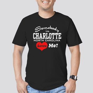 Charlotte North Carolina Men's Fitted T-Shirt (dar